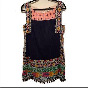 Tinamou Stitched Tunic Anthropologie Akemi + Kin
